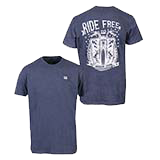 Navy Ride Free T-Shirt 10335-LG
